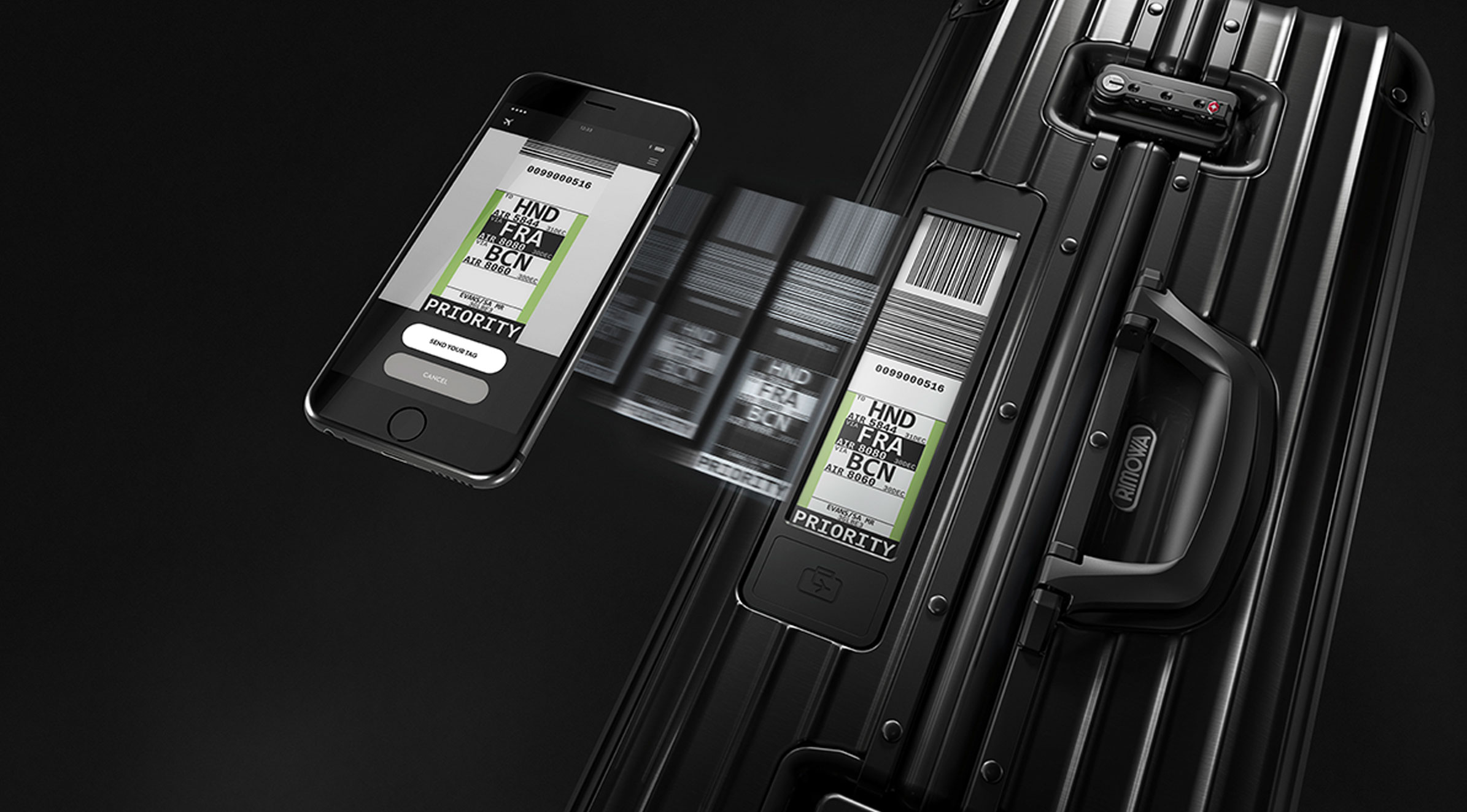 RIMOWA Electronic Tag App und Electronic Tag.